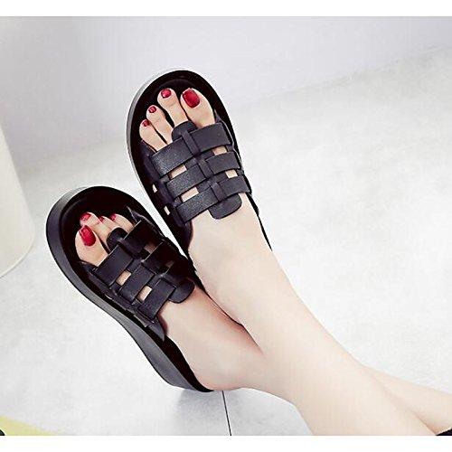 liane da Nero di di donna Casual Bianco White pelle Nappa Comfort ZHZNVX in sandali Primavera Scarpe vacchetta Estate per qw5TXOH