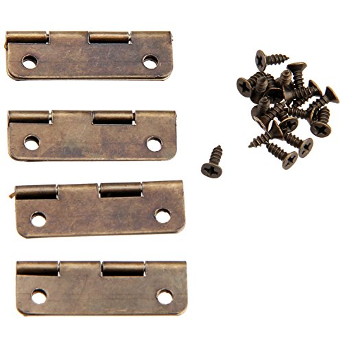 YingYing Home 20Pcs 30x17mm Antique Bronze Cabinet Hinges for Caskets Furniture Accessories Drawer Hinges for Jewelry Boxes by YingYing Home