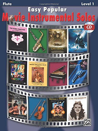 Movie Instrumental Solos Flute - Easy Popular Movie Instrumental Solos: Flute, Book & CD (Easy Instrumental Solos Series)