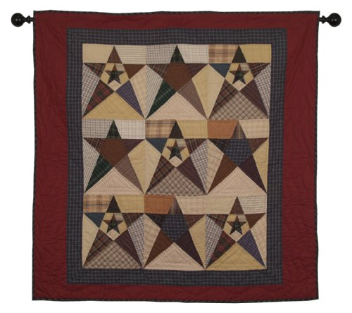 - Primitive Star Wall Hanging Quilt 44 Inches by 44 Inches 100% Cotton Handmade Hand Quilted Heirloom Quality