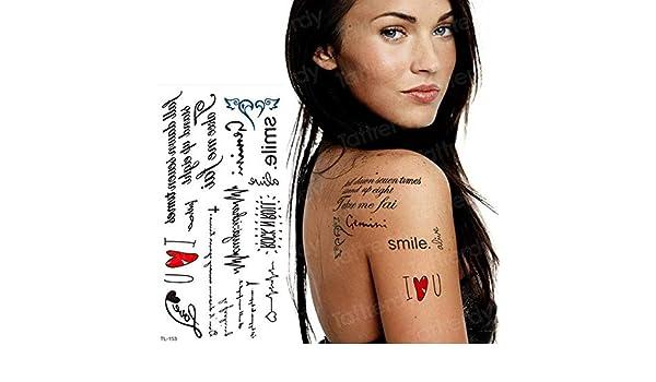 Handaxian 3 Piezas Tatuaje Pegatina Sirena pájaro Negro Tatuaje ...