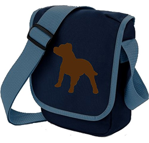 Brown Staffy Reporter Blue Bull Colours Dog Staffie of Gift Terrier on Shoulder Bag Choice Bag Mini Staffordshire wOpf8q