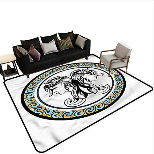Zodiac Gemini,Thin Non-Slip Kitchen Bathroom Carpet 64