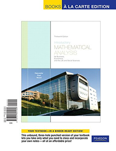 Introductory Mathematical Analysis for Business, Economics, and the Life and Social Sciences, Books