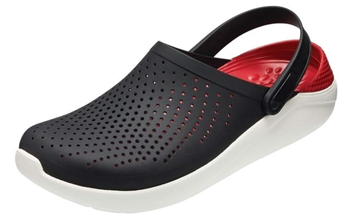 Zerol Rubber Casual Sandals for Mens/Boys, Slippers & Flip Flops clog02 blackred6 UK/India (46 EU) (B07SCT5JZC) Amazon Price History, Amazon Price Tracker