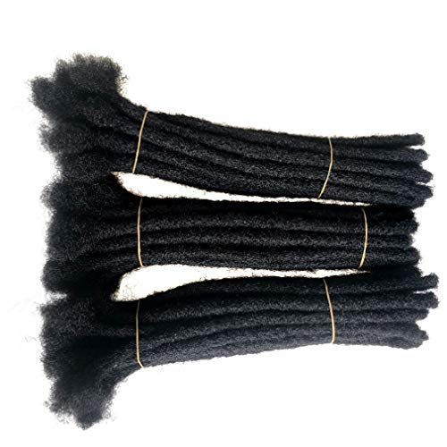 Human Hair Dreadlocks Extensions Handmade Locs Crochet Hair Extension 40 Strands (0.4cm diameter) (8