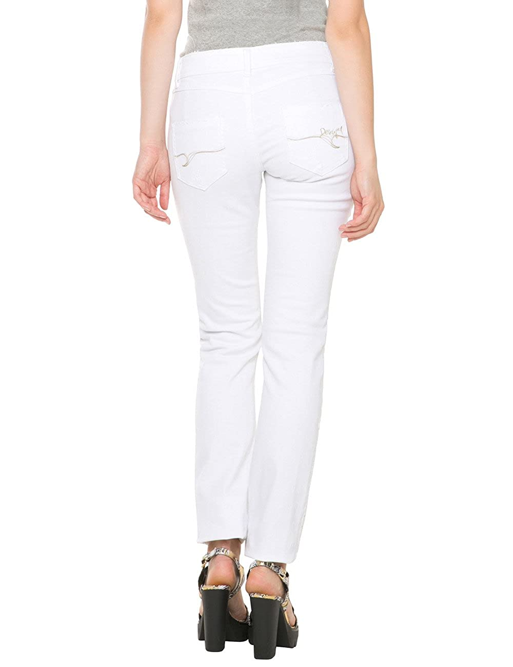 Womens Denim_blondie White Jeans Desigual Cheap Sale Find Great Super Specials Supply Get To Buy Online Inexpensive Cheap Price oDNKhD