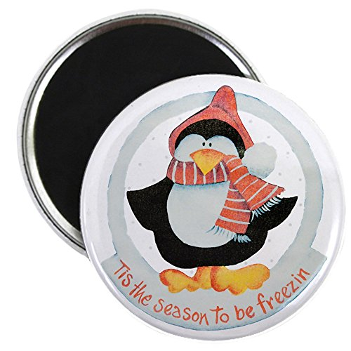2.25 Inch Magnet Christmas Penguin Freezin Season