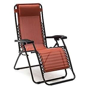 Amazon Com Premium Patio Chairs Zero Gravity Chair