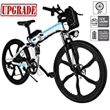 Aceshin Electric Bike, 26 inch Folding E-Bike Citybike Roadbike with 26' Super Lightweight Magnesium Alloy 6 Spokes Integrated Wheel, Lithium-Ion Battery (36V 250W), and Shimano 21 Speed Gear