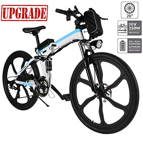 - Aceshin Electric Bike, 26 inch Folding E-Bike Citybike Roadbike with 26