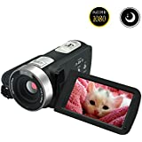 Video Camcorder Full HD 1080p 30fps Video Camera Night Vision 24.0MP Webcam 3 Touchscreen Digital Video Recorder