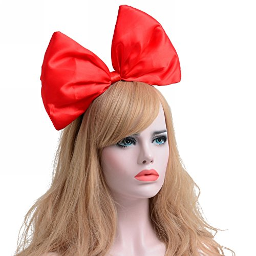 Big Red Hair Costume (BAOBAO Xmas Halloween Wedding Party Big Bowknot Hairband Headband Headpiece Hair Hoop)