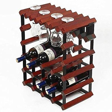 HJXSXHZ366 Estantería de Vino Botella de Vino de Mesa botellero botellero botellero -12 estantes Independientes - Bar/Bodega/Cocina, Blanco Estante de Vino pequeño (Color : Wine Red)
