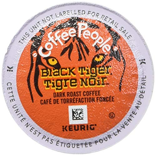 Bold Tigers - 48 Count - Coffee People Black Tiger Dark-Roasted Extra Bold Coffee K-Cup For Keurig Brewers