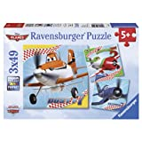 Ravensburger Disney Planes: Dusty and Friends (3 x 49-Piece) Puzzles in a Box