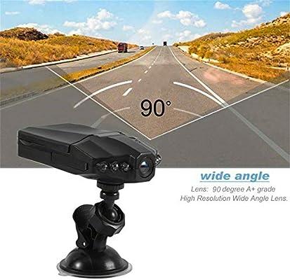 Cutogain Grabador de conducci/ón de autom/óviles Dashcam C/ámara Gran Angular HD Detecci/ón de Movimiento Visi/ón Nocturna