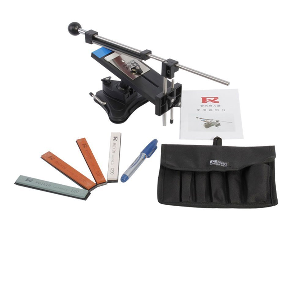IMAGE Professional Kitchen Knife Sharpener System Kit Fix-angle Version II With 4 Stones by Unknown