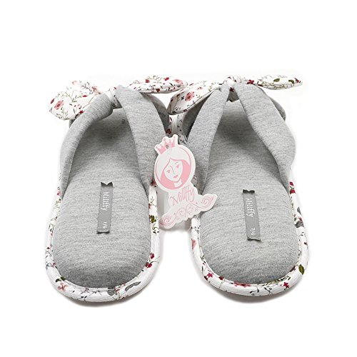 Millffy New Cotton Summer Grey Slipper Slippers Shoes Foam Memory Japanese Season Sweet Ladies Flowers Floral rrqwHd