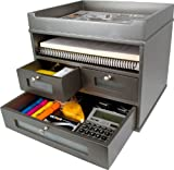 Victor Wood Tidy Tower Desktop Organizer, S5500 (Classic Silver)