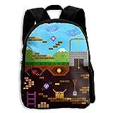 SARA NELL Kids School Backpack Retro Video Game Travel Bag For Preschool Kindergarten Elementary Boys Girls Student