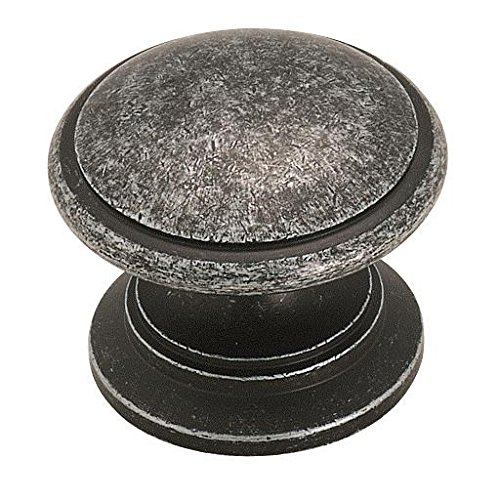 Amerock BP1466WID Brass Classics 1-1/4 in (32 mm) Diameter Wrought Iron Dark Cabinet Knob