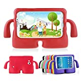 Lioeo Samsung Galaxy Tab 3 / 3 Lite 7.0 Case for Kids Rubber Shock Proof Protective Case Cover with Carry Handle for Samsung Galaxy Tab 3 /3 Lite Tablet 7 inch Screen (Red)