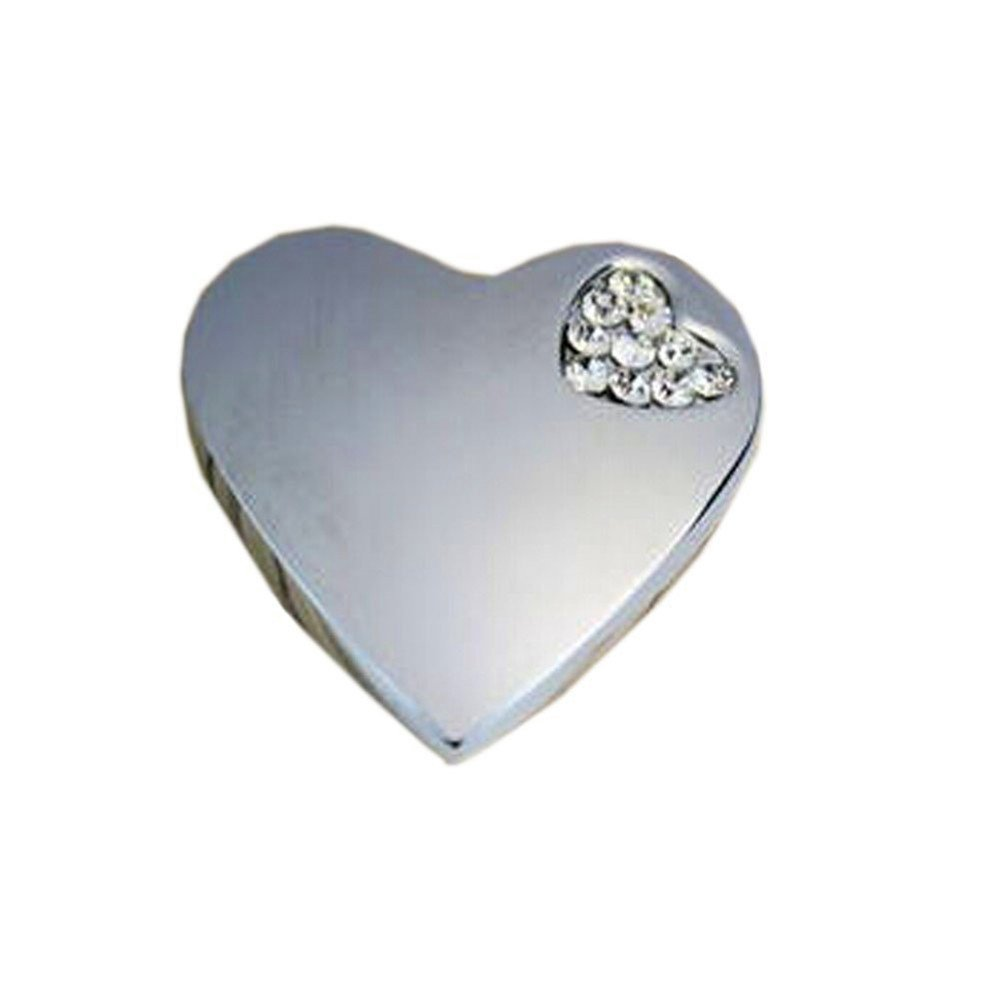 1.4*0.8 Kangkang@ Set of 3 Beautiful Silver Heart/&crystal Drawer Handles//pulls//knobs Chest Drawer Shoe Ark Cabinet Handle Modern European Contracted Jane the Double Love Set Auger Handle Knob