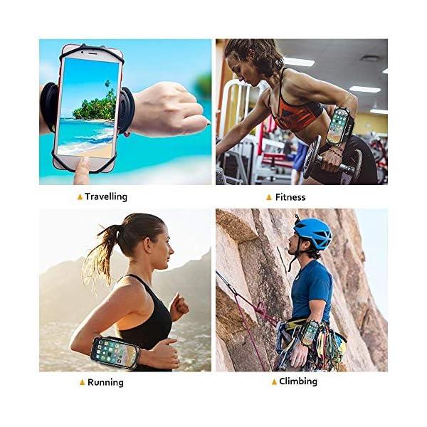 Bovon Brassard Sport, 360° Rotation Universel Brassard de Poignet pour Les 4,0-6,7 Pouces Smartphones, Bracelet Course…