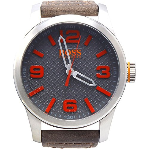 Hugo Boss Paris Stainless Steel Beige Leather Strap Watch, 1513351 Men's Beige