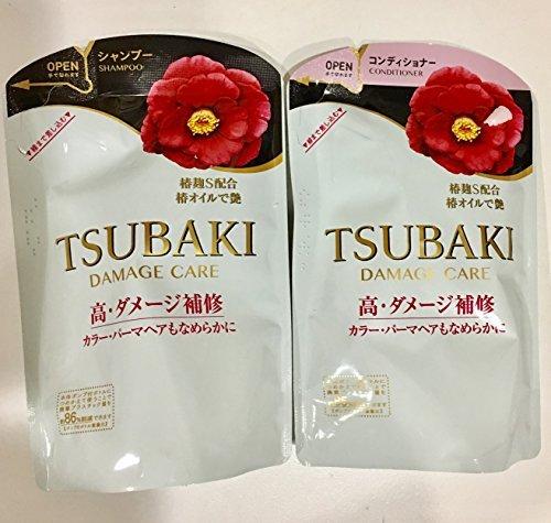 Shiseido TSUBAKI - DAMAGE CARE REFILLS (Shampoo and Conditioner) 400ml/400ml