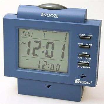 Reloj despertador digital con Luz, Calendario y Temperatura - Nevir Mod.NVR-746-D: Amazon.es: Hogar