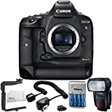 Canon EOS-1D X Mark II DSLR Camera with Canon Speedlite 600EX II-RT Flash 6PC Accessory Bundle – Off-Camera TTL Shoe Cord for Canon + MORE - International Version (No Warranty)