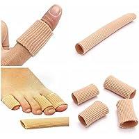 maxthstore Gel cubiertos de tela tubo de dedos de los pies dedos Protector de Juanetes callos callos