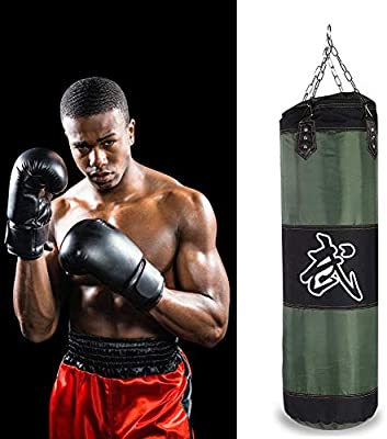 Alomejor Saco de Boxeo Saco de Boxeo Resistente con Cadenas para el Entrenamiento de Boxeo Bolsa de Arena de Fitness(1.2m-Green): Amazon.es: Deportes y aire libre