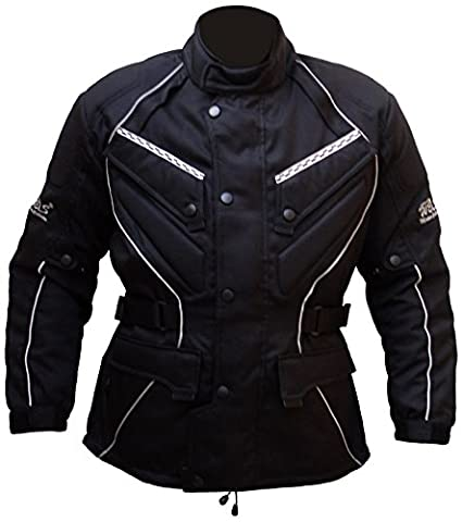 Protectwear Chaqueta de moto, chaqueta textil WCJ-101, negro Talla 66 / 7XL: Amazon.es: Coche y moto