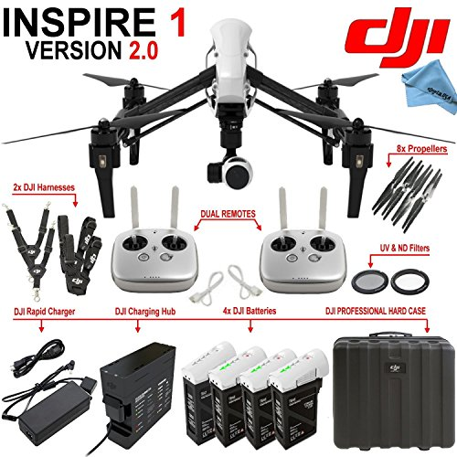 DJI-Inspire-1-Version-20-w-eDigitalUSA-Ultimate-Package-Includes-2-Remotes-3-Spare-TB48-Batteries-Charging-Hub-DJI-Professional-Hard-Case-and-more