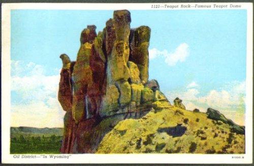 Teapot Rock Dome Casper WY postcard 1960