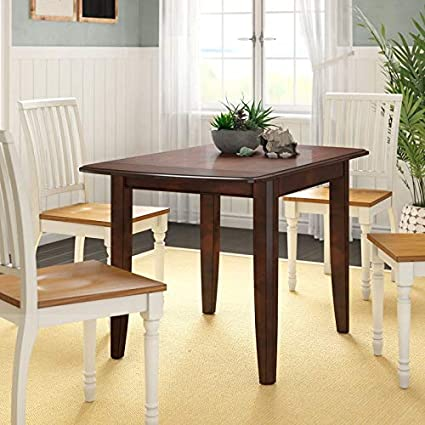 Amazoncom Wood Folding Dining Table With Curved Corners Dining