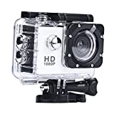Digital Camera Camcorders Sipring Lightweight Mini 1080P Full HD DV Sports Recorder Car Waterproof Action Camera Camcorder (White)