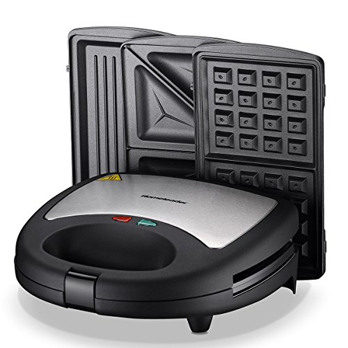 Homeleader 3-in-1 Sandwich Maker, Electric Waffle Maker, Pan