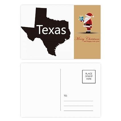 Texas America USA silueta de mapa de Santa Claus Postal Set ...