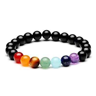 YAZILIND 7 Chakra Healing Balance 8mm Cuentas Pulsera Yoga ...
