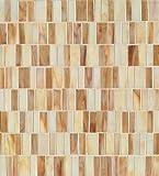 Bedrosians GLSRETBUBRMP ''Retrospect'' Mosaic with Random Pattern, 12'' x 13'', Butterscotch Blend