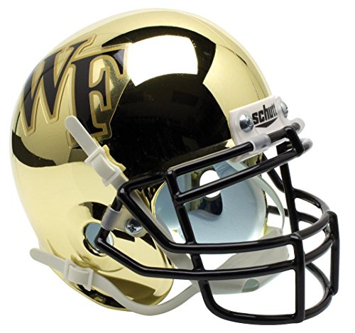 Wake Forest Demon Deacons Alternate Gold Chrome Collectible Mini Helmet (Wake Forest Mini)