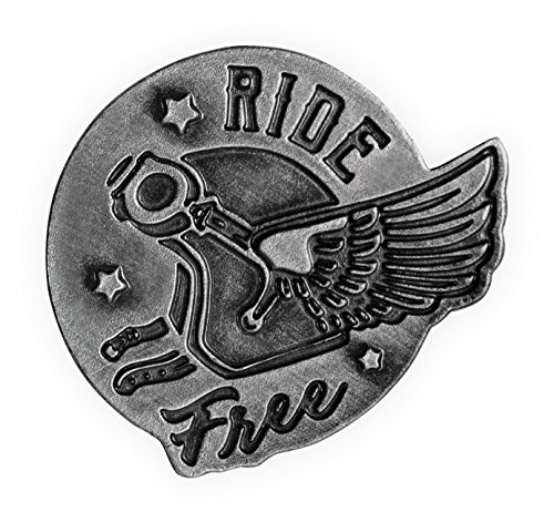 AngelStar Guardian Eagle Lapel Pin - Ride Free, Antique Pewter