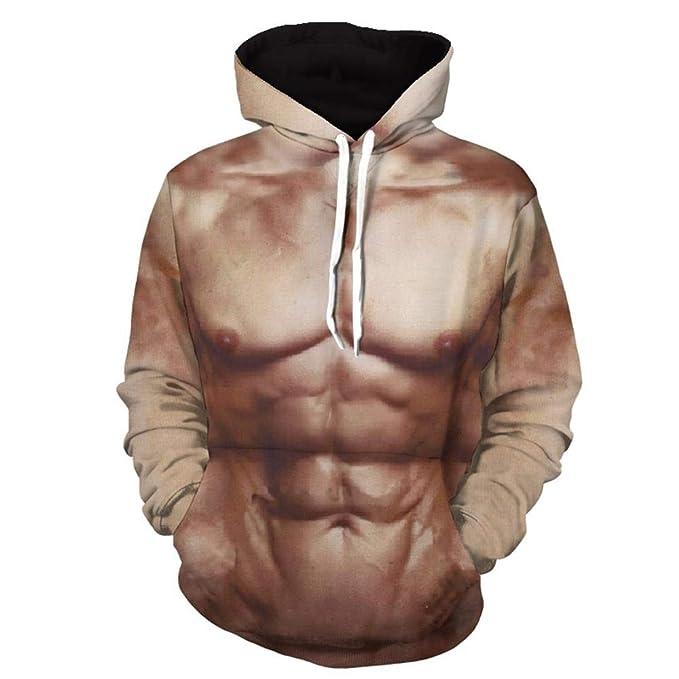 Hombre musculoso Sudadera con Capucha 3D Impresión Pullover Sudaderas De Tendencia Hoodie Sweatshirt de Mangas Largas Bolsillos Unisex Cosplay,Manga, Dibujos ...