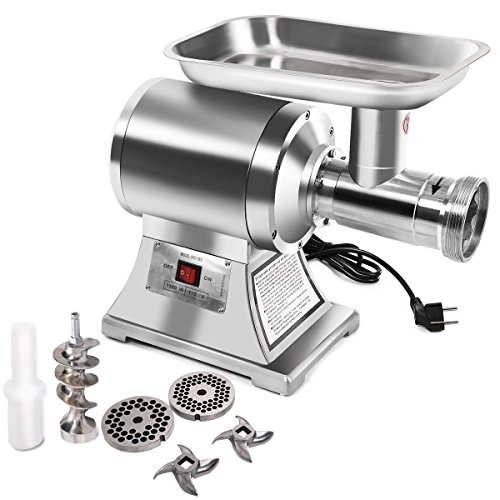 Electric Meat Grinder 1100W Commercial Grade 1HP Stainless Steel Heavy Duty #22