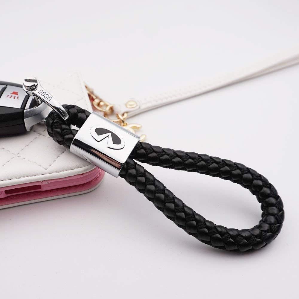Audi BearFire Car Logo Emblem Key Chain Key Ring Metal Alloy BV Calf Style Black Leather Gift Decoration Accessories