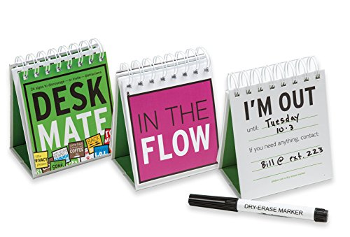 DeskMate 24 Desktop Flip Signs, Office Cubicle Accessory to Discourage or Invite - Cubicles Christmas